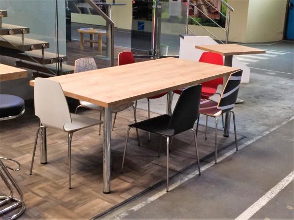 Tischplatte Longlife 100 x 200cm, 39mm stark mit strukturierter Oberfläche Holz / Stein