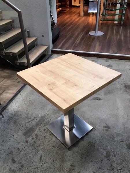 Tischplatte Longlife 68 x 68cm, 39mm stark mit strukturierter Oberfläche Holz / Stein