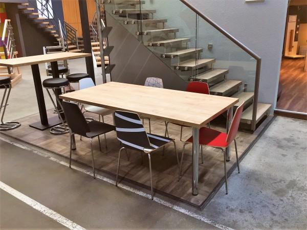 Tischplatte Longlife 100 x 180cm, 39mm stark mit strukturierter Oberfläche Holz / Stein